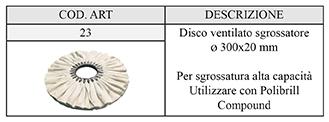disco ventilato sgrossatore